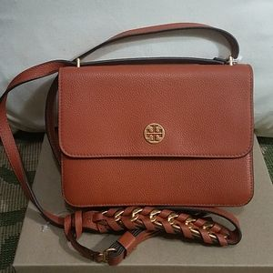 Tory Burch Brooke Pebbled Leather Shoulder Bag